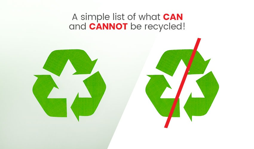 list of what can and cannot be recycled