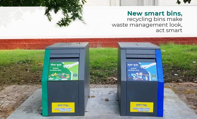 New smart bins, recycling bins make waste management look, act smart