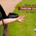 Think before you throw garbage on the roadside