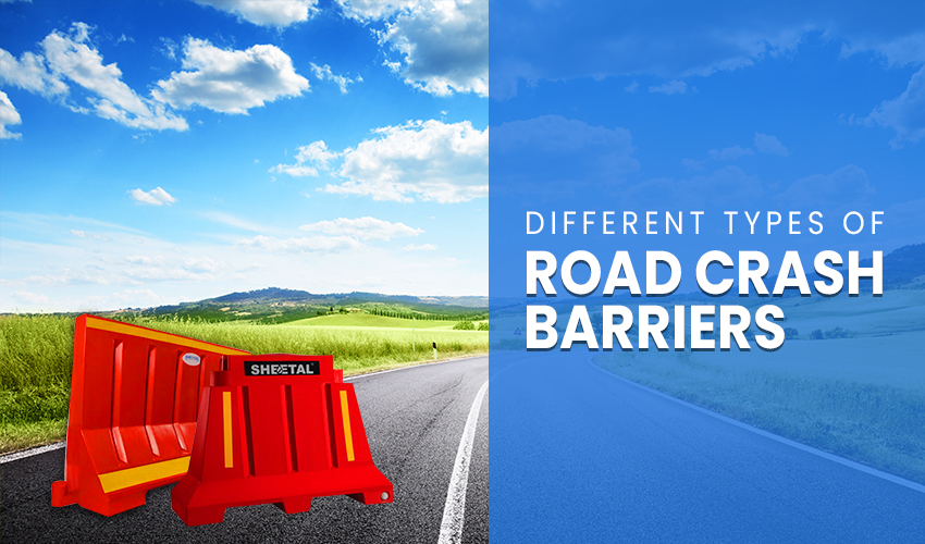 Types of plastic road crash barriers
