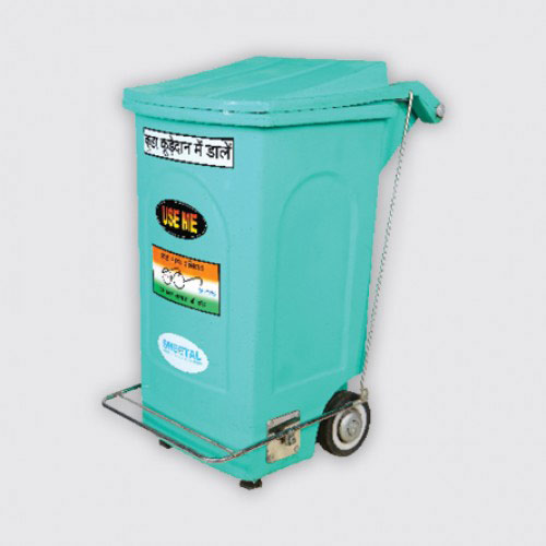 Two Wheeler with Pedal - Solid Waste Management Bins  - The Sheetal Group