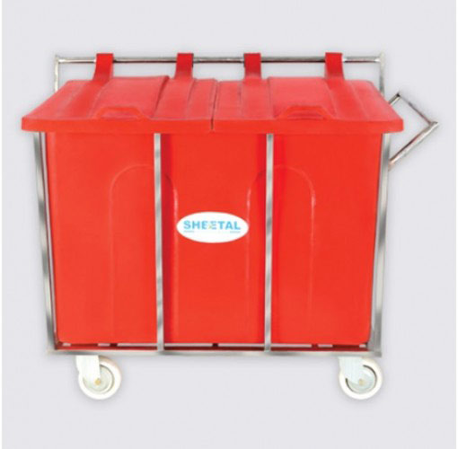 Bio Medical Mobile Bin - Solid Waste Management Bins  - The Sheetal Group