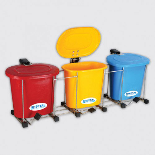 Oval Foot Bin - Solid Waste Management Bins  - The Sheetal Group