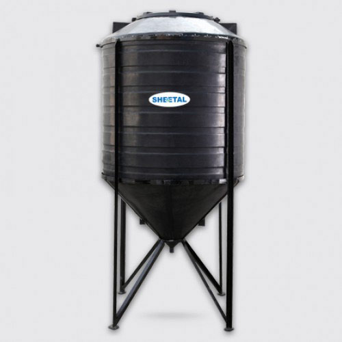 Black Conical Water Tank - Best Water Storage Tanks in India - The Sheetal Group