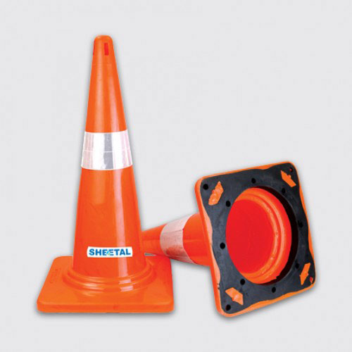 Traffic Cone-II - Road Barriers for Safety  - The Sheetal Group